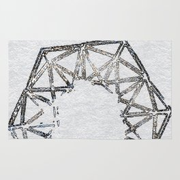Melted geometry 2 Rug