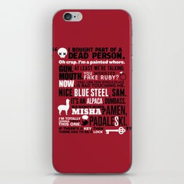 Supernatural - The French Mistake Quotes iPhone Skin