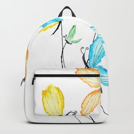 colorful flying butterflies Backpack