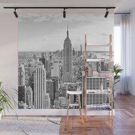 New York City, Manhattan (Black & White) Wall Mural