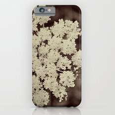 Lace Black and White Flower iPhone 6s Slim Case