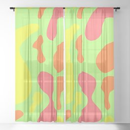 bright sunny abstract pattern decor design Sheer Curtain