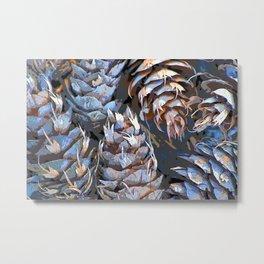 Blue Cones Metal Print