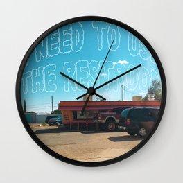 Odesert III (w/ text) Wall Clock