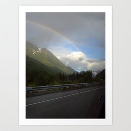 Alaskan Rainbow Art Print