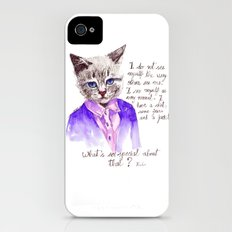 Fashion Mr. Cat Karl Lagerfeld and Chanel iPhone (4, 4s) Slim Case