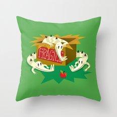 Crocs, Box and Apple Throw Pillow
