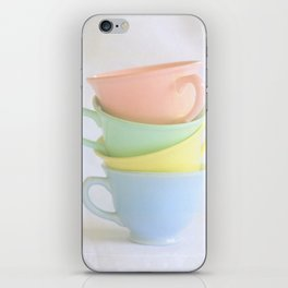 Pastel Tea Cup Stack iPhone Skin