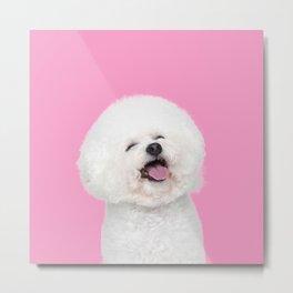 Laughing Puppy Metal Print