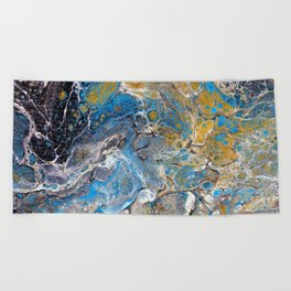 Mineralogy - Abstract Flow Acrylic Beach Towel