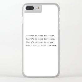 Everything's still the same - Lyrics collection Clear iPhone Case