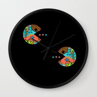 80s Wall Clocks featuring Pac-80s by Skorretto