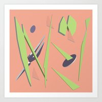80s Shapes, Colors and Space Art Print