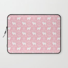 Chow Chow dog floral silhouette dog breed chow chows pet gifts Laptop Sleeve