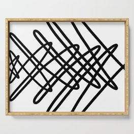 Cross Hatch Squiggle Serving Tray