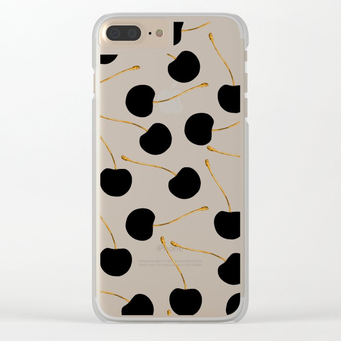Black Cherries Clear iPhone Case