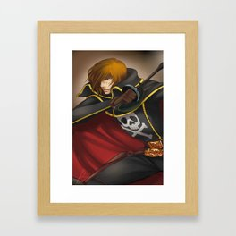 Captain Harlock Framed Art Print