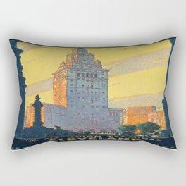 Vintage poster - Cleveland Rectangular Pillow
