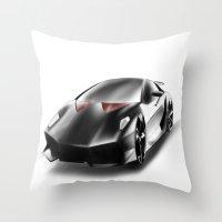 lamborghini Throw Pillows featuring Just a Lamborghini by Ispas Sorin