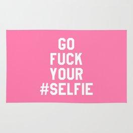 GO FUCK YOUR SELFIE (Pink) Rug