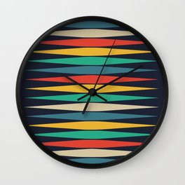 Pointy diamond colorful pattern design Wall Clock