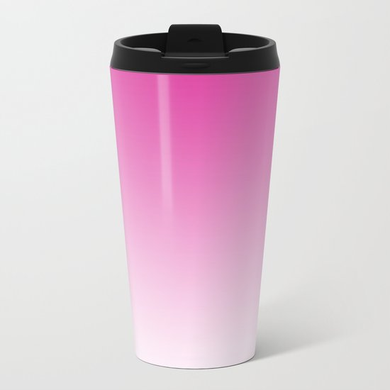 Simply girly pink color gradient - Mix and Match with Simplicity of Life Metal Travel Mug