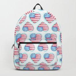 Patriotic Heart Backpack