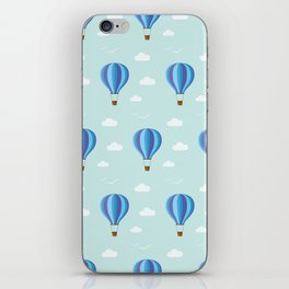 Zooming through the air iPhone Skin