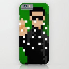 Neo of the Matrix minimal pixel art iPhone Case