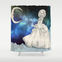 Victorian astronaut Shower Curtain