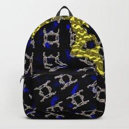Liquid Metal Gold and Silver Mandela Backpack