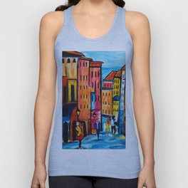 Afternoon Walk Downtown Unisex Tank Top