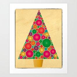 Merry Christmas! Christmas Bubble Tree Art Print