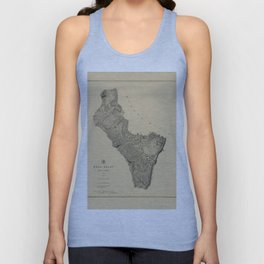 Map of West Point 1883 Unisex Tank Top