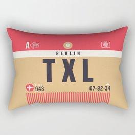 Baggage Tag A - TXL Berlin Tegel Germany Rectangular Pillow