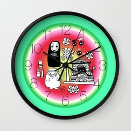 Spirit Away Characters Wall Clock