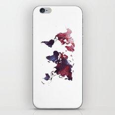 world map art 3 iPhone & iPod Skin