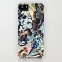 Bathing Grackle iPhone Case