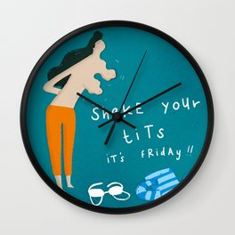 Shake your t*ts Wall Clock
