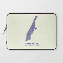 Manhattan Map NYC Laptop Sleeve