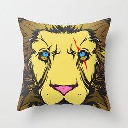 jungle king Throw Pillow
