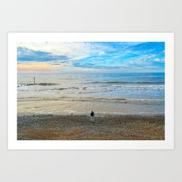 Cromer Beach at Sunset Art Print
