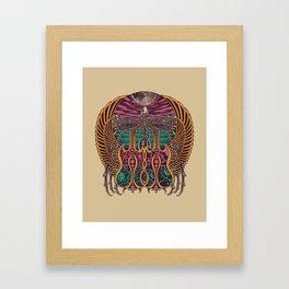 COSMIC SCARAB Framed Art Print