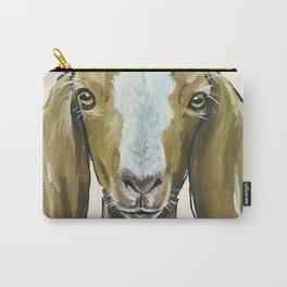 Goat Painting, Farm Animal Art Carry-All Pouch