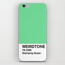 Glamping Green iPhone Skin