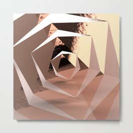 Multifaceted - Rose Gold and Copper Metal Print