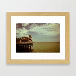 Fairground Pier Framed Art Print