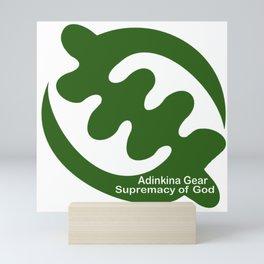 Supremacy of God in Green Mini Art Print