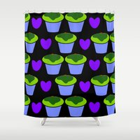 cookie Shower Curtains featuring Cookie love by mirelajoja