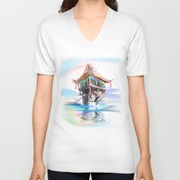 vietnam V-neck T-shirts featuring Vietnam by tatiana-teni